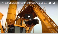 25m3/h Mobile Concrete Batching Plant in 2014 Paraguay Feeding debug video