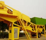 mini mobile concrete mixing plant